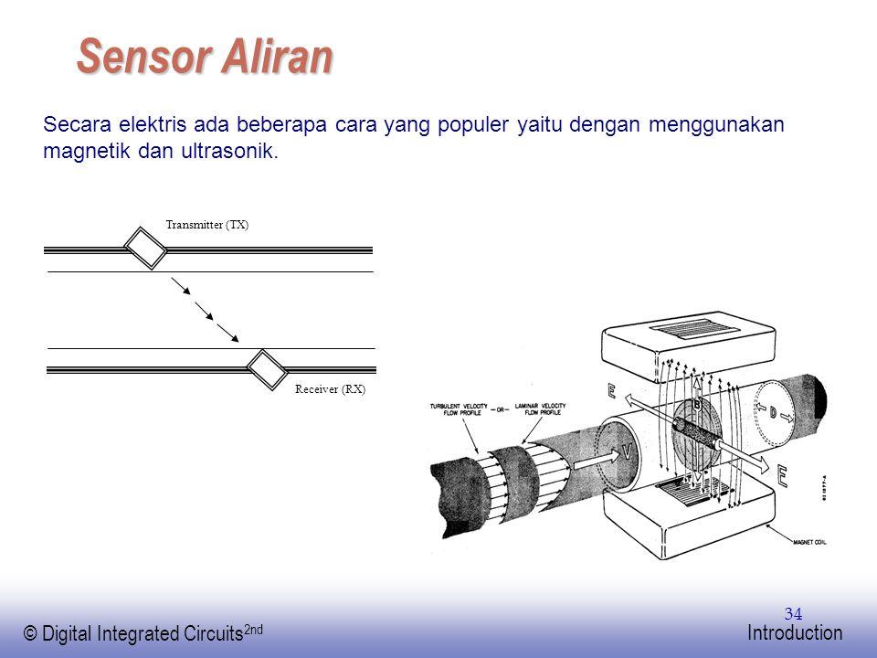 EE141 © Digital Integrated Circuits 2nd Introduction 34 Sensor Aliran Secara elektris ada beberapa cara yang populer yaitu dengan menggunakan magnetik