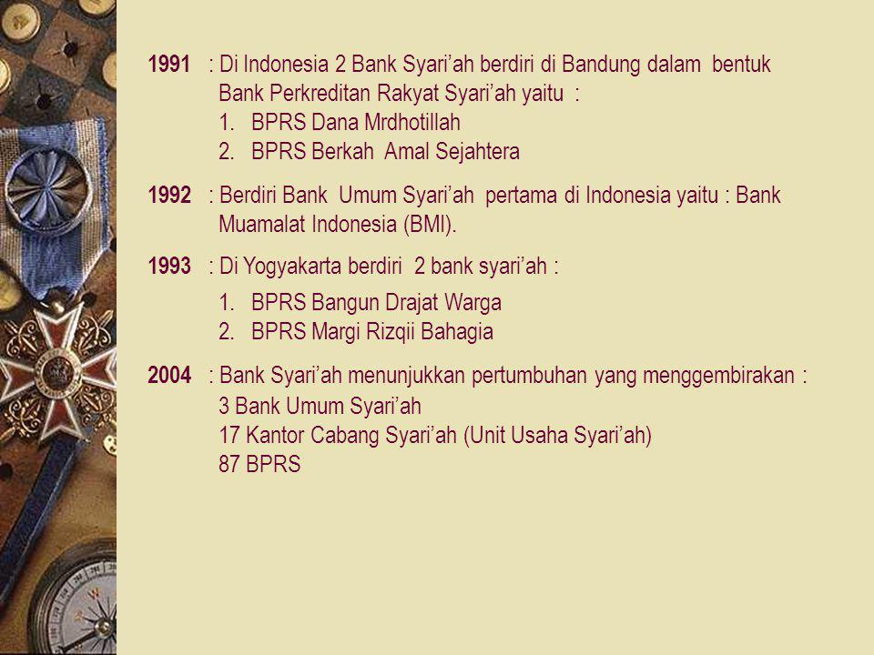 1969 : Musyawarah lembaga OKI di Kualalumpur (terdiri dari 18 negara) dengan menghasilkan 3 keputusan : 1.Bunga bank adalah haram hukumnya. 2.Sosialis