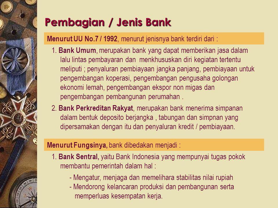 """Definisi Bank Ensiklopedia Ekonomi Keuangan dan Perdagangan (A.Abdurrachman) : """" Bank adalah suatu jenis lembaga keuangan yang melakukan berbagai maca"""