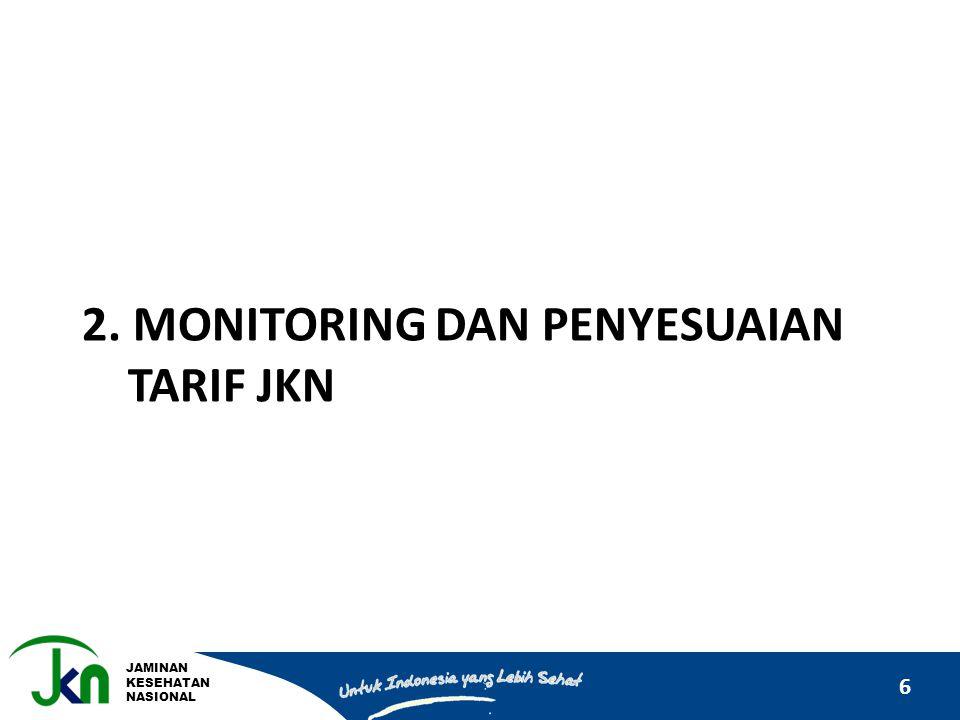 JAMINAN KESEHATAN NASIONAL 6 2. MONITORING DAN PENYESUAIAN TARIF JKN