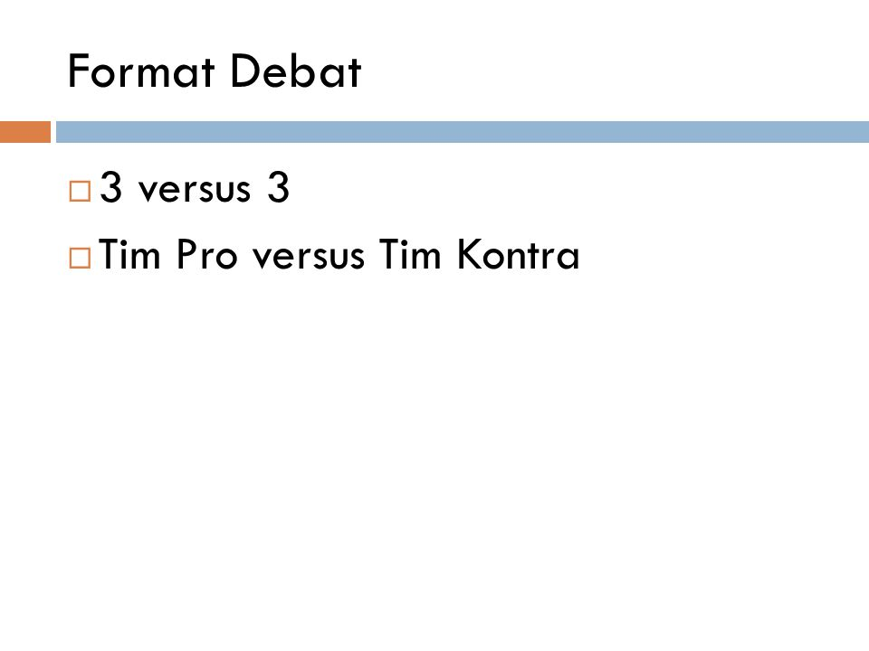 Prosedur Turnamen : Babak  Babak pre-eliminasi - 3 babak pre-eliminasi - Setiap tim wajib mengikuti 3 babak di atas.