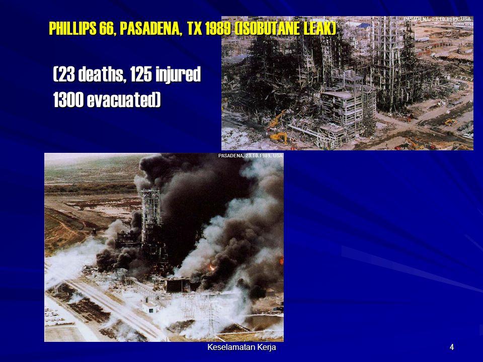 Keselamatan Kerja 4 PHILLIPS 66, PASADENA, TX 1989 (ISOBUTANE LEAK) (23 deaths, 125 injured 1300 evacuated)