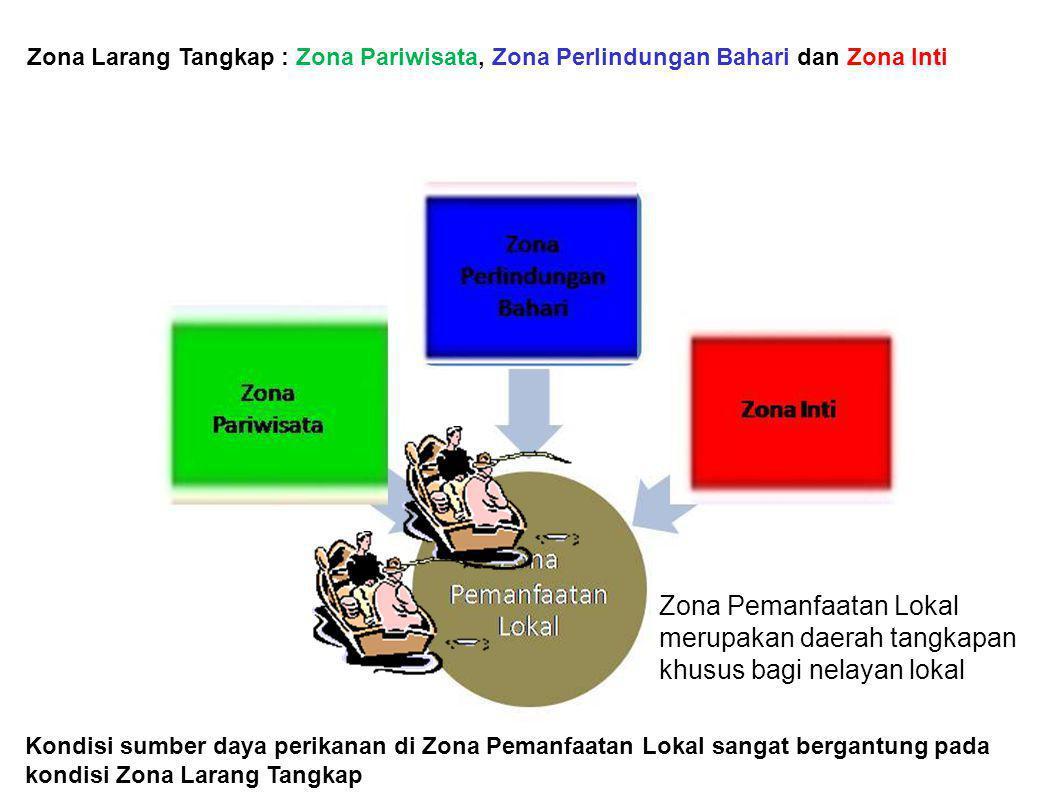 Zonasi : Suatu pembagian wilayah dalam sistem pengelolaan Taman Nasional untuk menjamin pemanfaatan berkelanjutan Zona Larang Tangkap : Zona Pariwisat