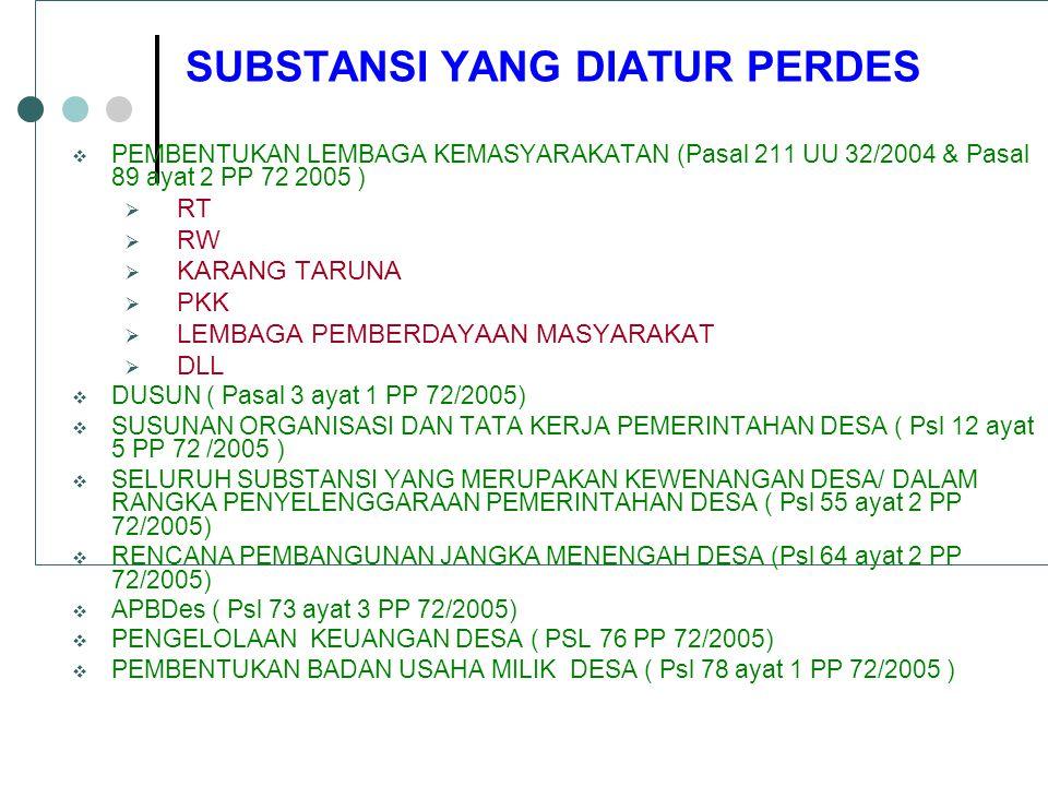 Struktur APBDes 1.Pendapatan 2. Belanja 3.