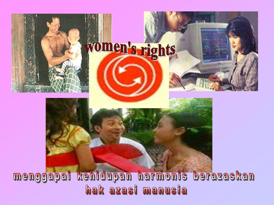 Boys wil be boys, but I'll never hit women hit women unifem Setiap orang memiliki hak azasi untuk rasa aman dan perlindungan dalam keluarga UU No.23/2004 CEDAW UU No.7/1984 Es/10/04 P E N U T U P