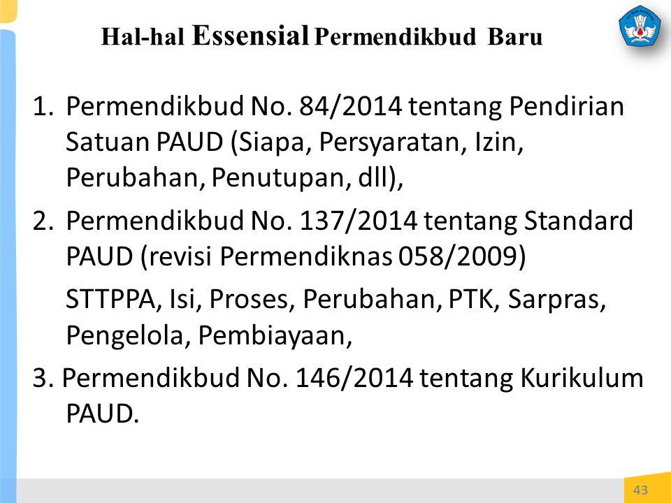 Hal-hal Essensial Permendikbud Baru 1.Permendikbud No.