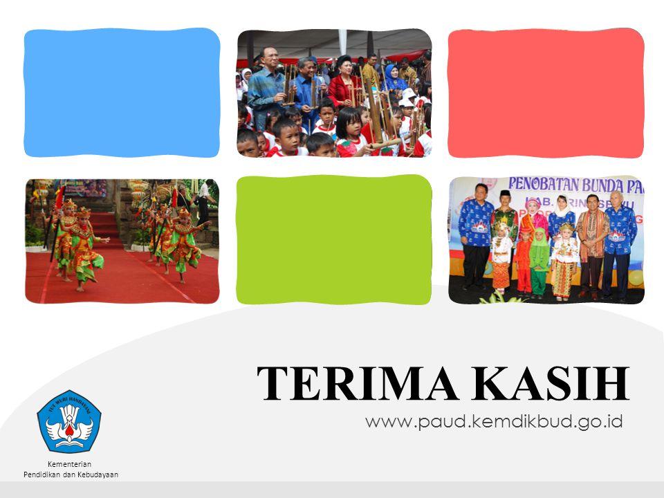 Kementerian Pendidikan dan Kebudayaan TERIMA KASIH www.paud.kemdikbud.go.id