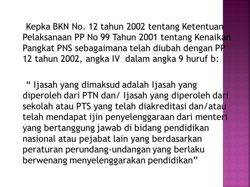  Permenpan 16 tahun 2009 tentang Jabfung Guru dan Angka Kreditnya mengisyaratkan bahwa Syarat Pengangkatan guru harus berijasah S1/D.IV dan bersertifikat pendidik.