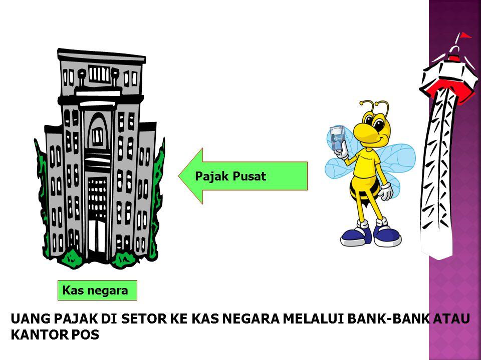 Kas negara Pajak Pusat UANG PAJAK DI SETOR KE KAS NEGARA MELALUI BANK-BANK ATAU KANTOR POS
