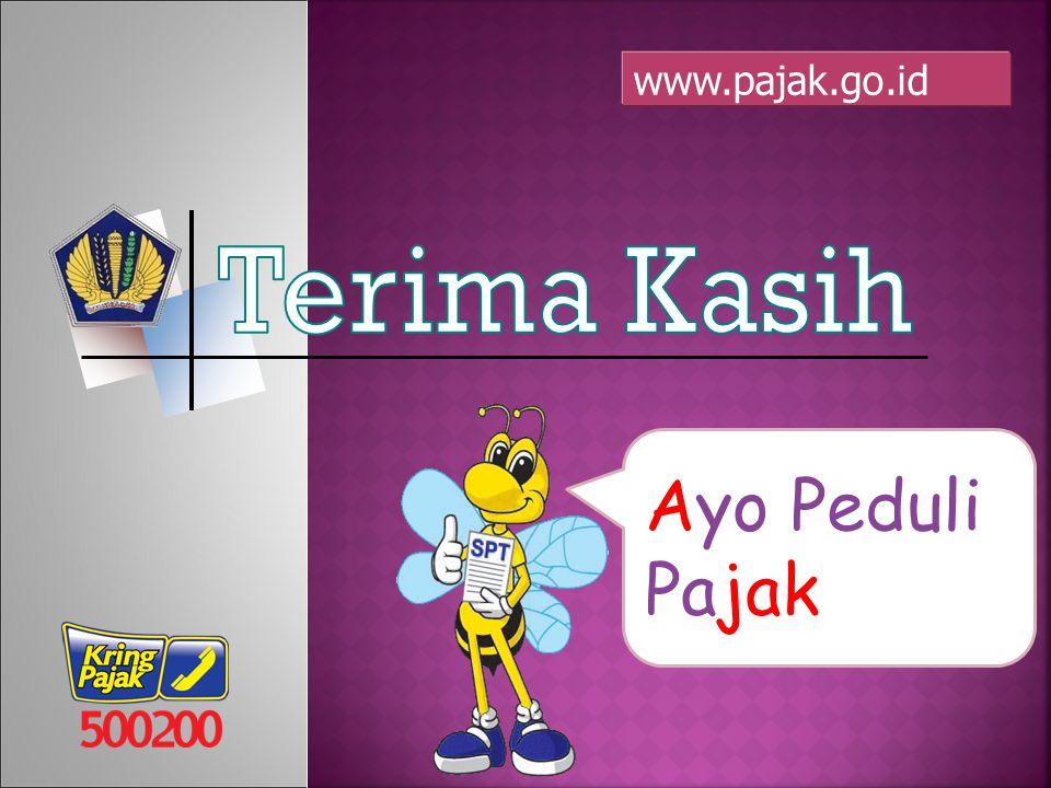 Ayo Peduli Pajak www.pajak.go.id