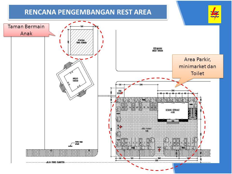 Area Parkir, minimarket dan Toilet Taman Bermain Anak