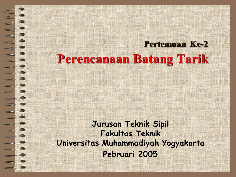 Pertemuan Ke-2 Perencanaan Batang Tarik Jurusan Teknik Sipil Fakultas Teknik Universitas Muhammadiyah Yogyakarta Pebruari 2005