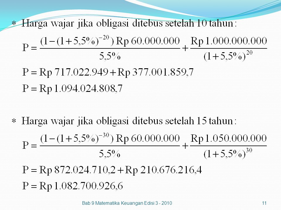 Bab 9 Matematika Keuangan Edisi 3 - 201011