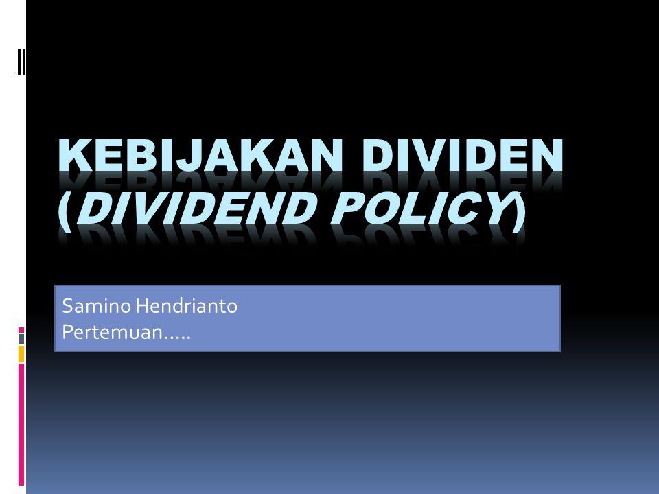 Kesempatan investasi yg ada & tingkat keuntungan yg diperoleh sbb :  Dari data tersebut tentukan besarnya dividen yg akan dibayarkan pada setiap kondisi InvestasiNilai Investasi Return yg diharapkan Kondisi burukKondisi sedangKondisi Baik 1400.000.00018%21%26% 2300.000.00017%19%21% 3300.000.00015%18%19% 4400.000.00014%15%18% 5400.000.00012%14%16% 6400.000.00011%12%15% 7400.000.0009%11%12%