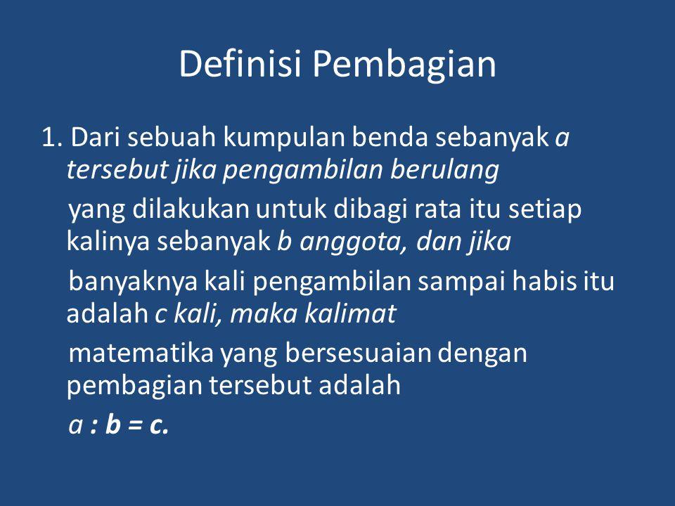 Definisi Pembagian 1.