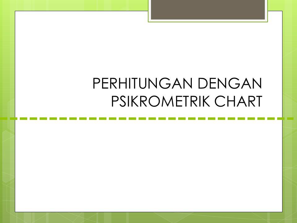 PERHITUNGAN DENGAN PSIKROMETRIK CHART