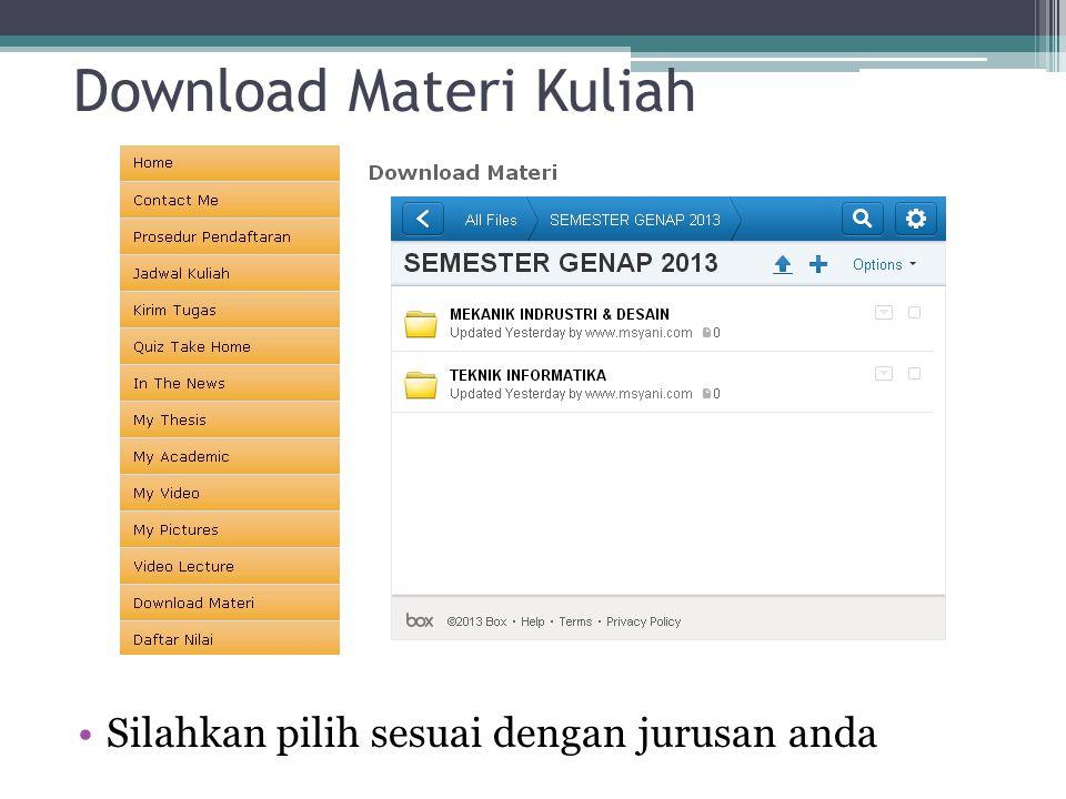 Download Materi Kuliah Silahkan pilih sesuai dengan jurusan anda