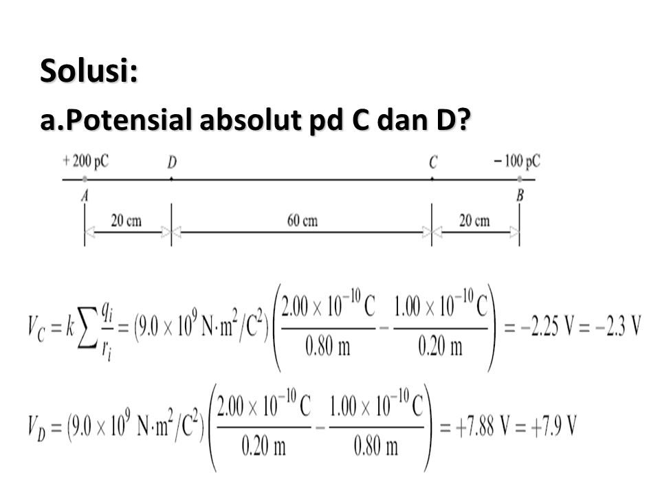 19 Solusi: a.Potensial absolut pd C dan D?