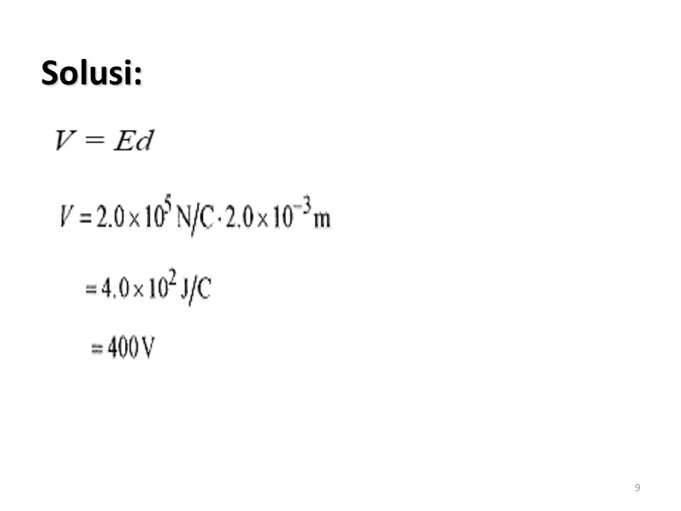 20 b.Brp energi yg dikeluarkan utk mentransfer muatan 500E-6C dri C ke D? Shg: