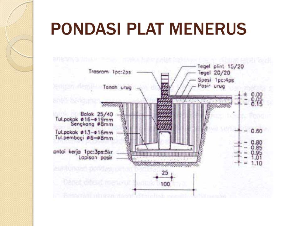 PONDASI PLAT MENERUS
