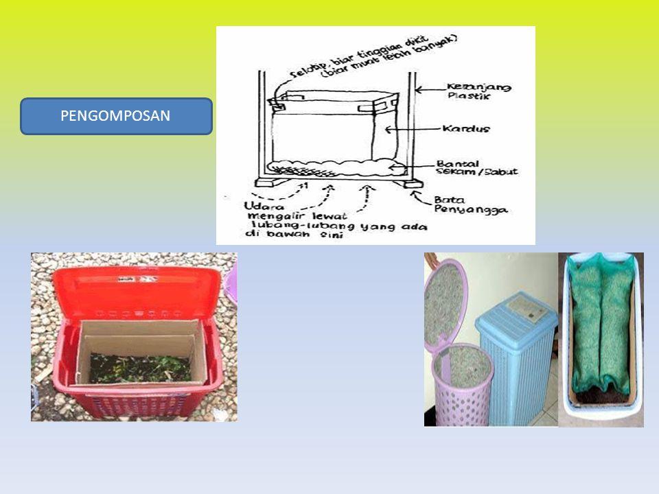 PENGOMPOSAN BIOPORI Menyelamatkan ketersediaan air tanah Tujuan atau manfaat pembuatan Lubang Resapan Biopori (LRB), antara lain:  Memaksimalkan air