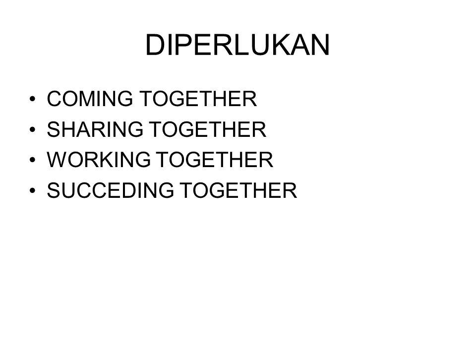 DIPERLUKAN COMING TOGETHER SHARING TOGETHER WORKING TOGETHER SUCCEDING TOGETHER