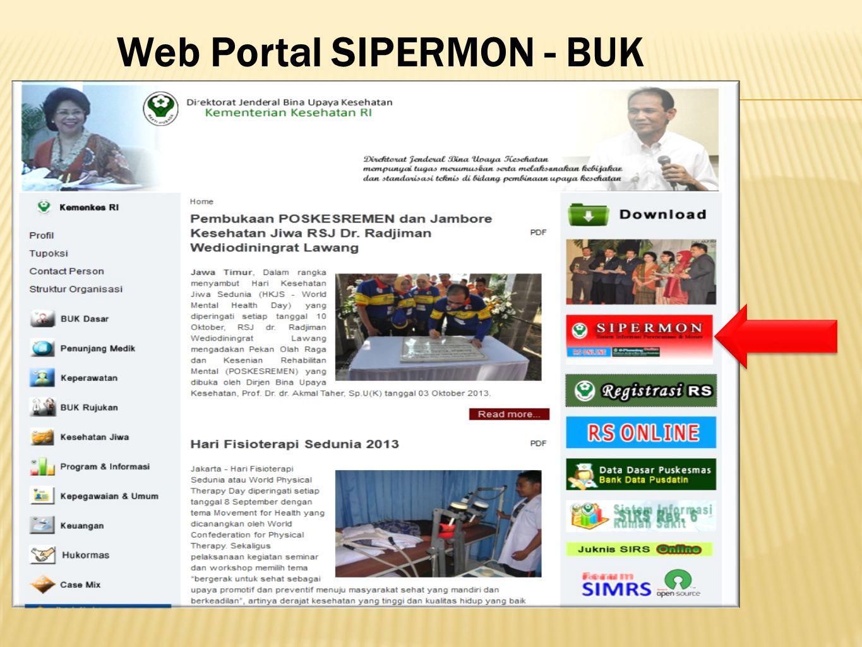 Web Portal SIPERMON - BUK