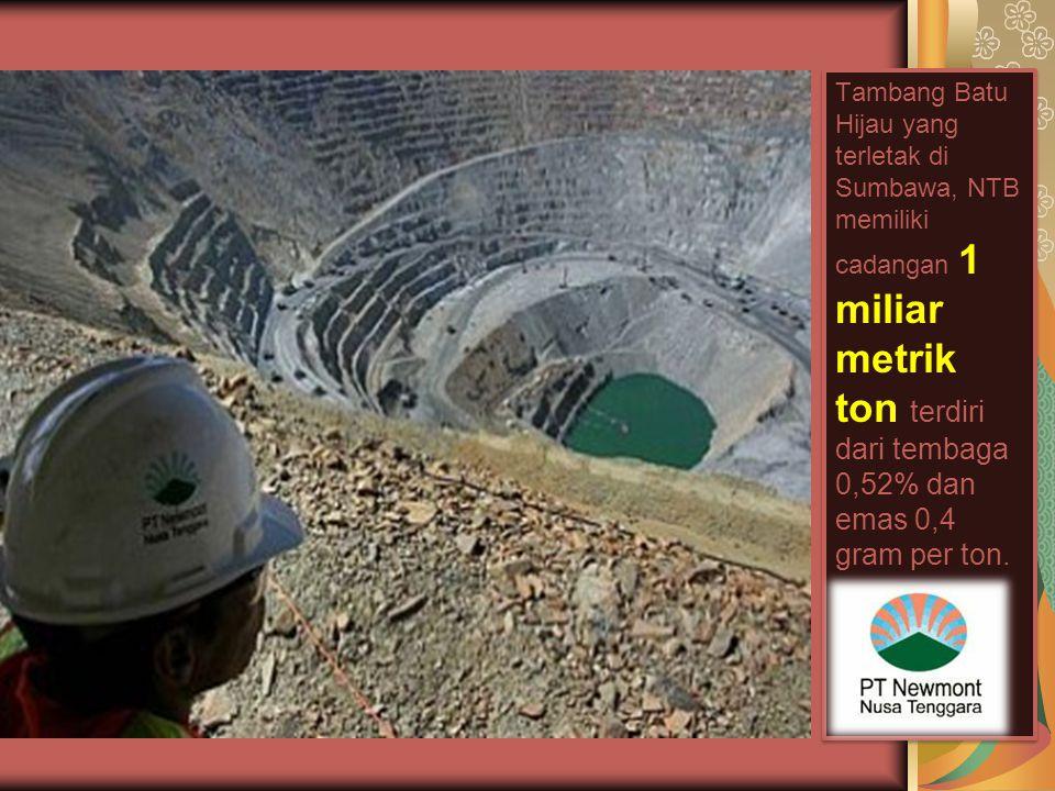 Tambang Grasberg yang terletak di Tembagapura memiliki cadangan 2.5 miliar metrik ton, yang mengandung 1,13% tembaga, 1,05 gram per ton emas, dan 3,8