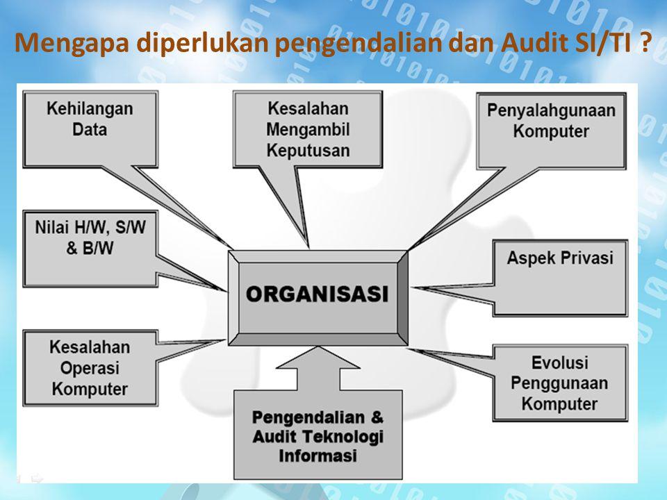 Mengapa diperlukan pengendalian dan Audit SI/TI ?