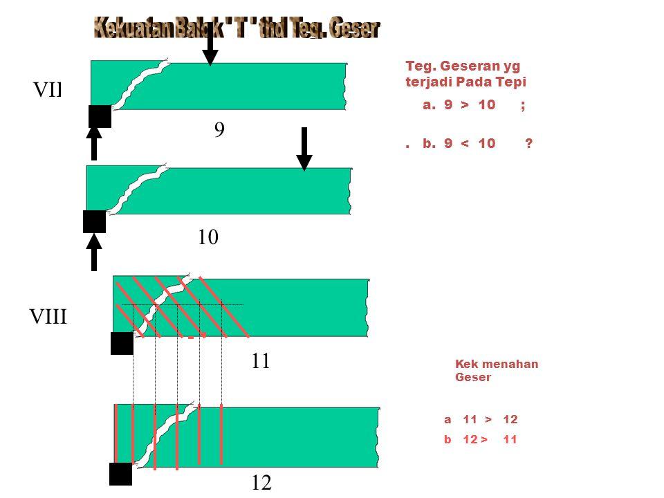 Teg. Geseran yg terjadi Pada Tepi a. 9 > 10 ;. b.