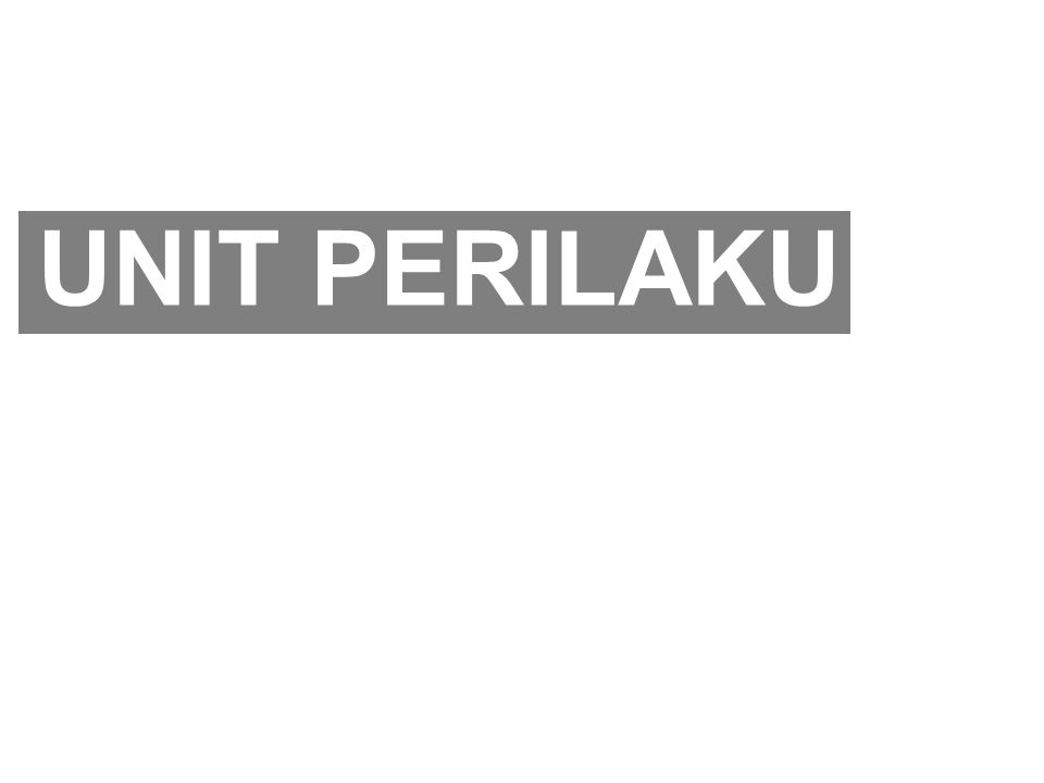 UNIT PERILAKU