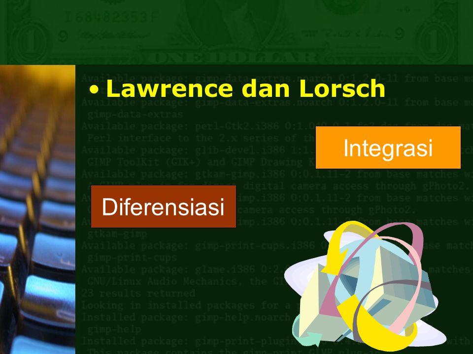 Lawrence dan Lorsch Diferensiasi Integrasi