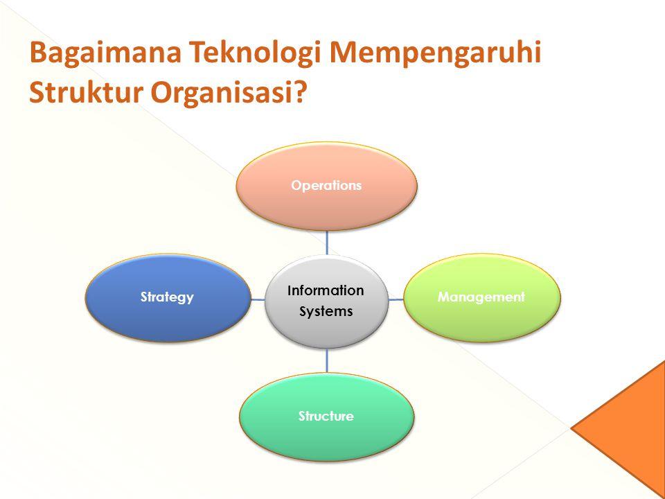 Information Systems OperationsManagementStructureStrategy Bagaimana Teknologi Mempengaruhi Struktur Organisasi?