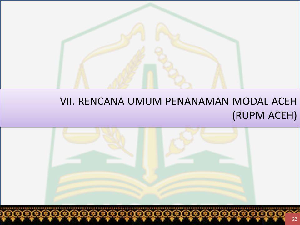VII. RENCANA UMUM PENANAMAN MODAL ACEH (RUPM ACEH) 22
