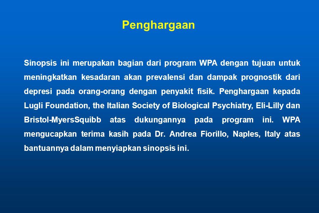 Sinopsis ini merupakan bagian dari program WPA dengan tujuan untuk meningkatkan kesadaran akan prevalensi dan dampak prognostik dari depresi pada orang-orang dengan penyakit fisik.
