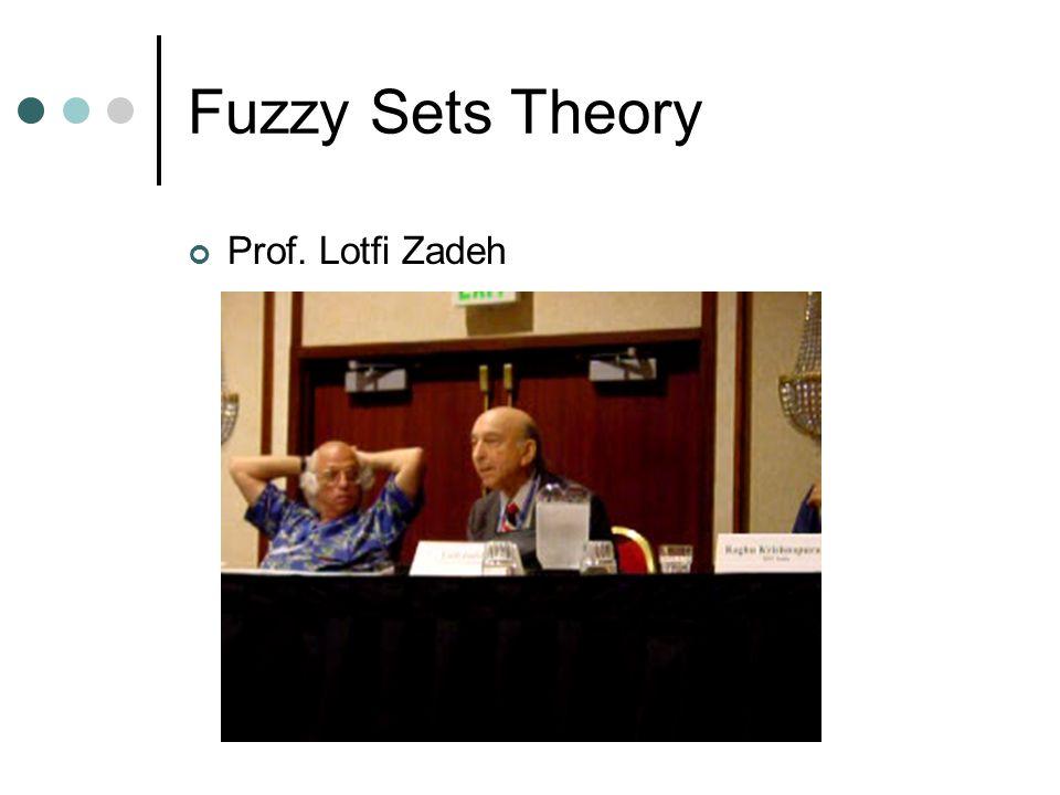 Fuzzy Sets Theory Prof. Lotfi Zadeh