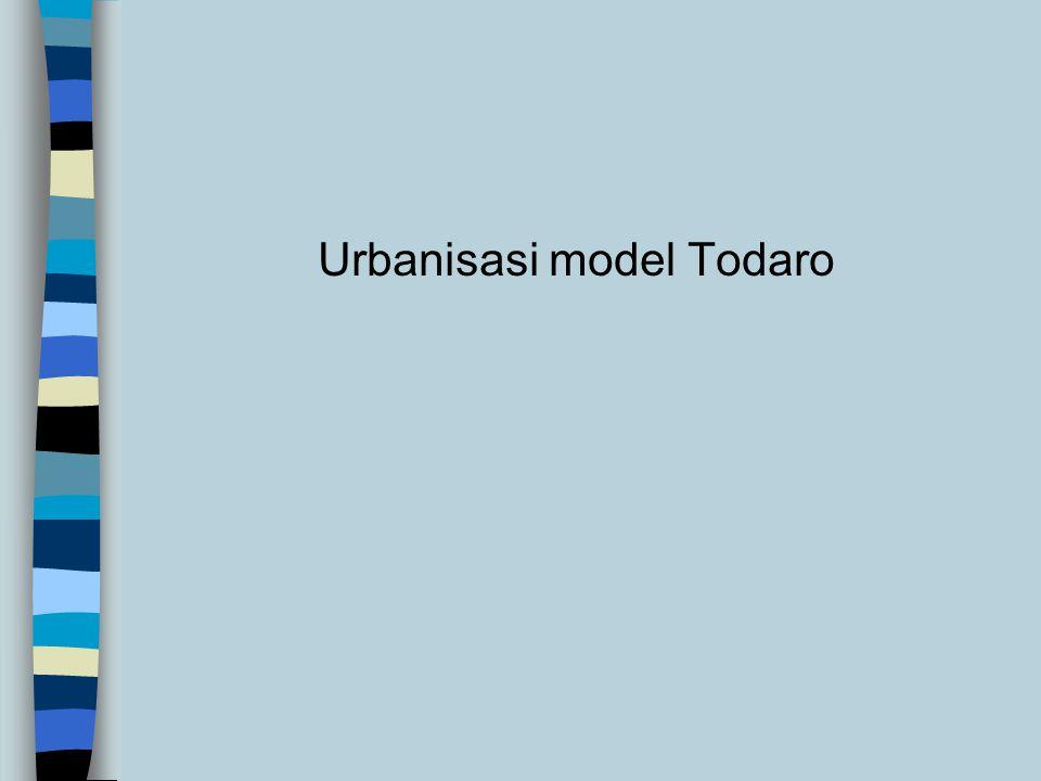 Migrasi dan Pembangunan n Urbanisasi dianggap positif karena dapat menggeser SDM dr tempat yg produk marginal sosialnya nol ke lokasi yg produk margin