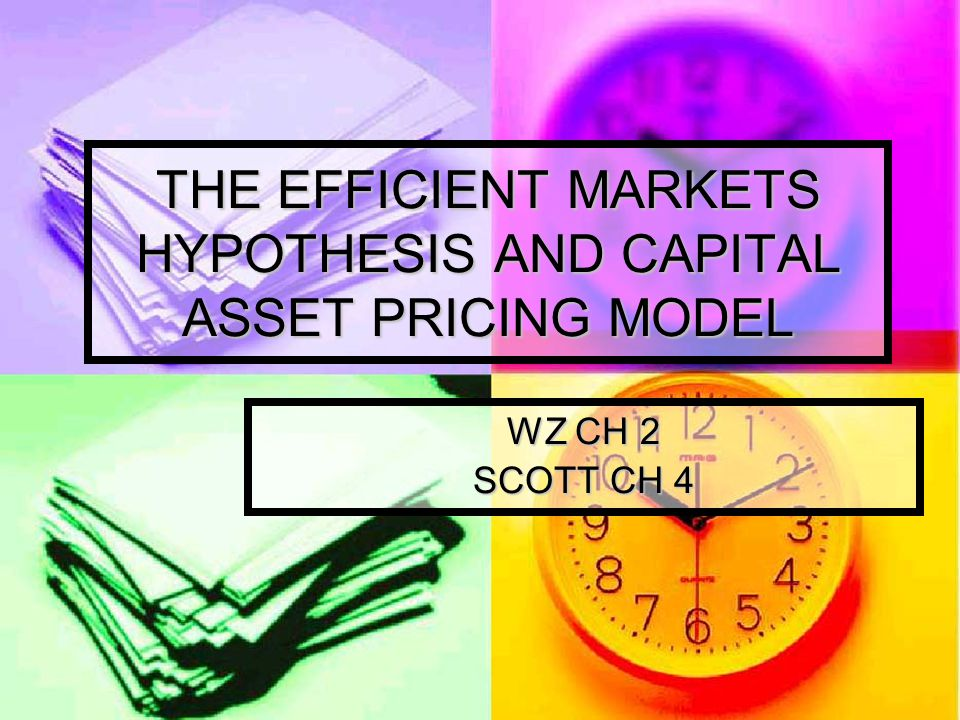 THE EFFICIENT MARKETS HYPOTHESIS Jensen (1978) defines an efficient market as follows: Jensen (1978) defines an efficient market as follows: A market is efficient with respect to information set θ t if impossible to make economics profits by trading on the basis of information set θ t A market is efficient with respect to information set θ t if impossible to make economics profits by trading on the basis of information set θ t Artinya: pasar dapat dikatak efficient apabila informasi tercermin dalam harga saham secara cepat dan penuh Artinya: pasar dapat dikatak efficient apabila informasi tercermin dalam harga saham secara cepat dan penuh Things to consider: Things to consider: Risk-adjusted rate of return Risk-adjusted rate of return On average On average Economic profit are net of all costs Economic profit are net of all costs