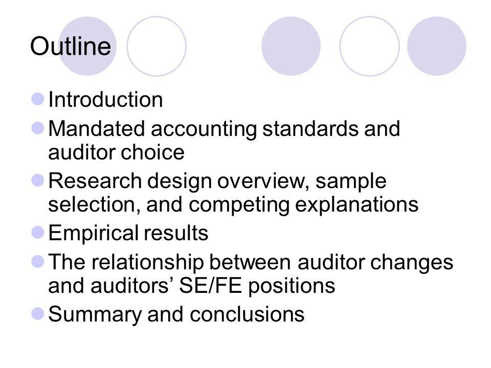 Peningkatan dalam perubahan auditor ini tidak terkait dengan: - economy-wide events - oil industry events - firm-spesific events - faktor-faktor difentially yang mempengaruhi perusahaan sampel yang terkena dampak SFAS-19