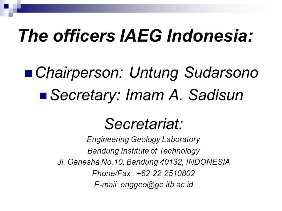 Chairperson: Untung Sudarsono Secretary: Imam A.