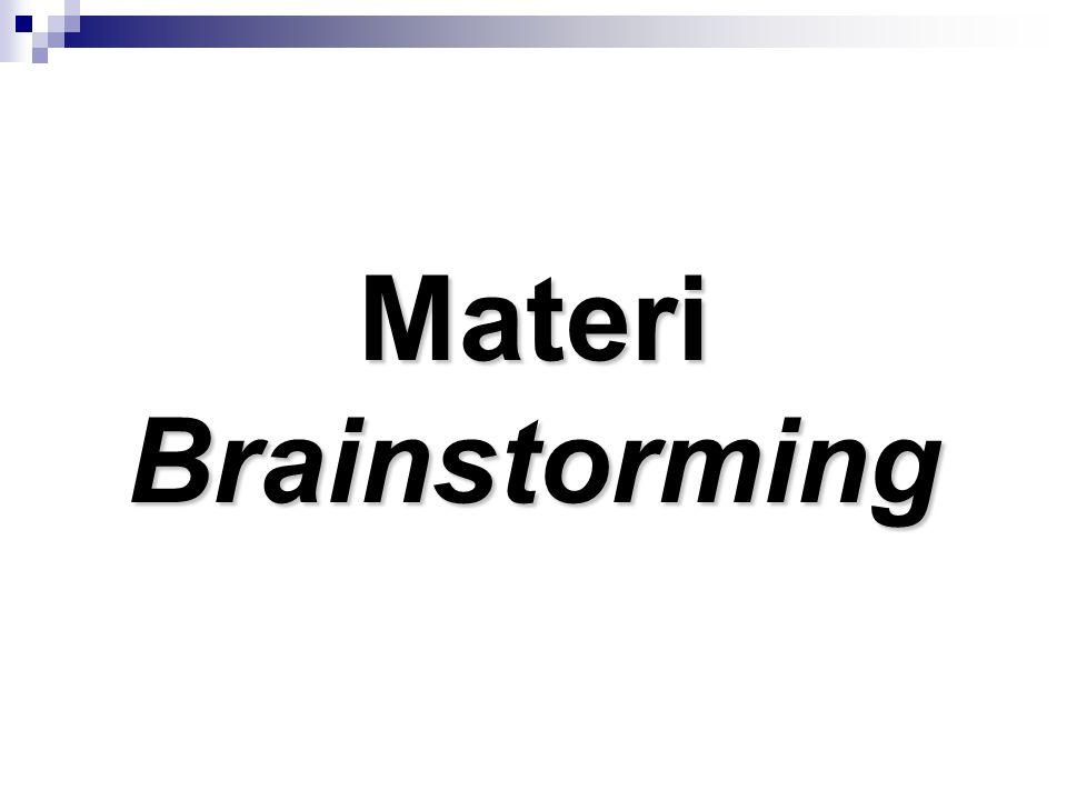 Materi Brainstorming