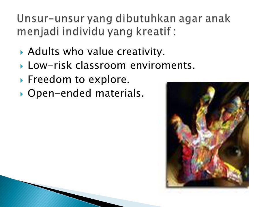  Aksi yang kreatif selalu bermain dengan ide dan material.