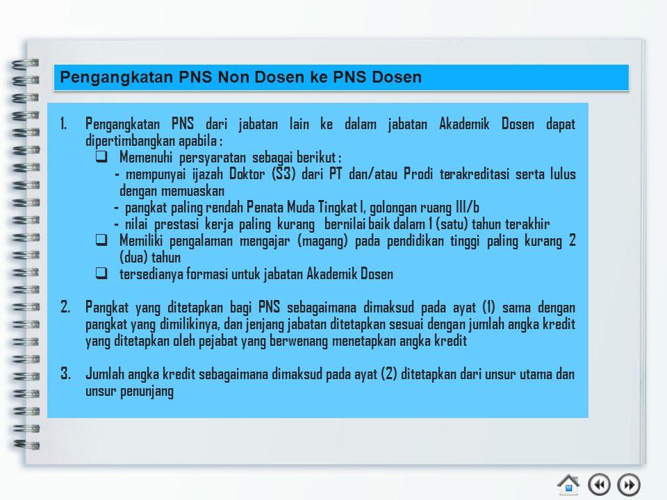 Contoh : Dr. Marni Suharti, S.E.,M.Si. Adalah seorang dosen diangkat sebagai CPNS Dosen dengan kualifikasi pendidikan S3 tmt 1 Maret 2013, dan mendapa