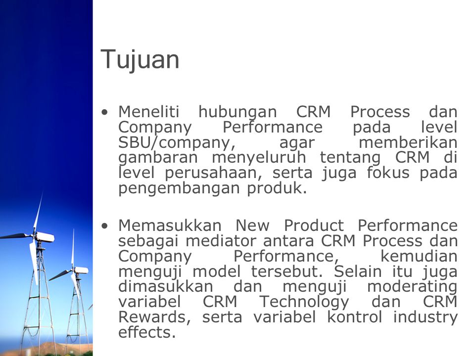 Implikasi Manajerial CRM can be leveraged to provide important customer information which can be used to improve NPP.