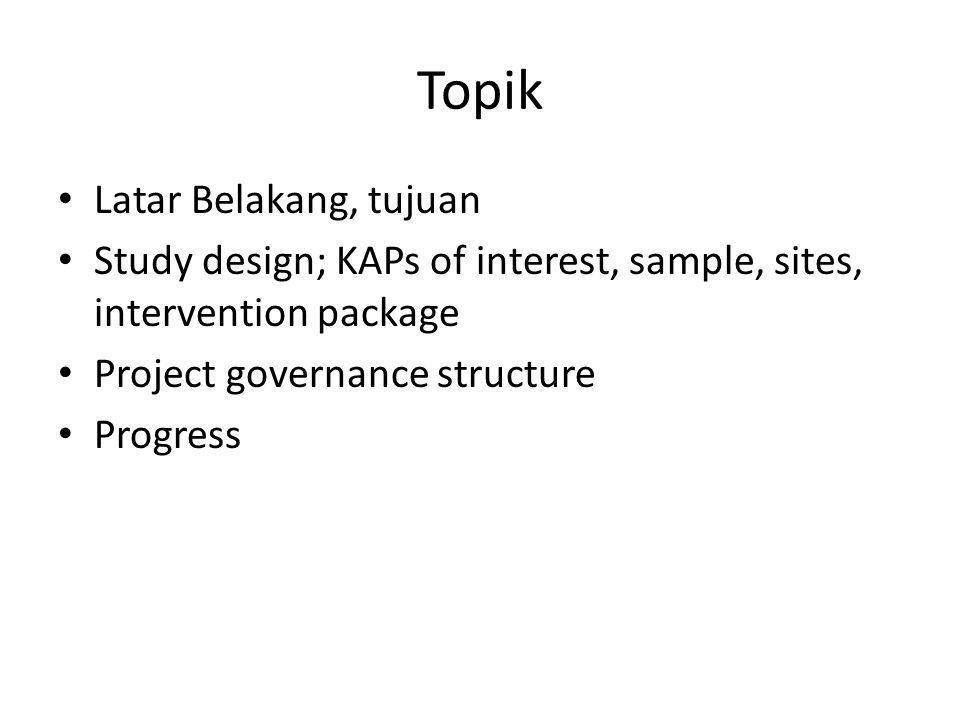 Sites: Bali, Yogya, Bandung Primary and Satellite Sites; the Roles (Bali)