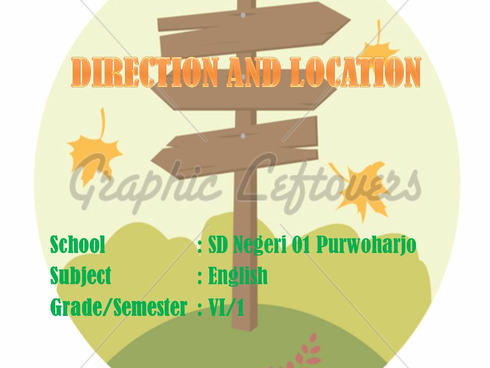 School: SD Negeri 01 Purwoharjo Subject: English Grade/Semester: VI/1