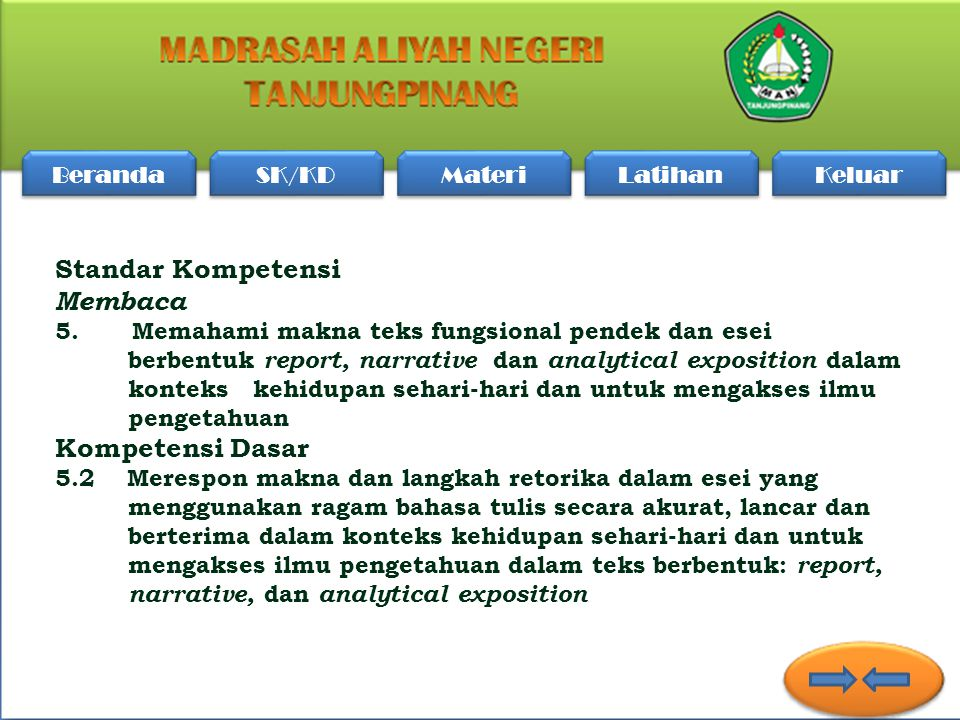 Made by: Muhammad Ihsan Madrasah Aliyah Negeri Tanjungpinang Kec. Bukit Bestari Kota Tanjungpinang Made by: Muhammad Ihsan Madrasah Aliyah Negeri Tanj