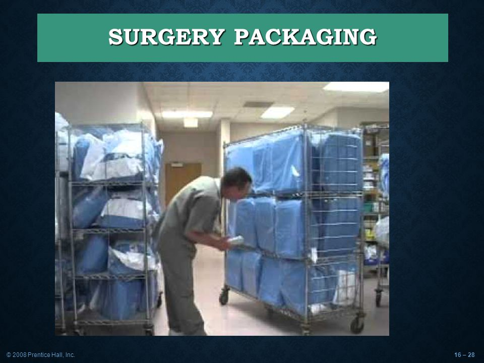 © 2008 Prentice Hall, Inc.16 – 28 SURGERY PACKAGING