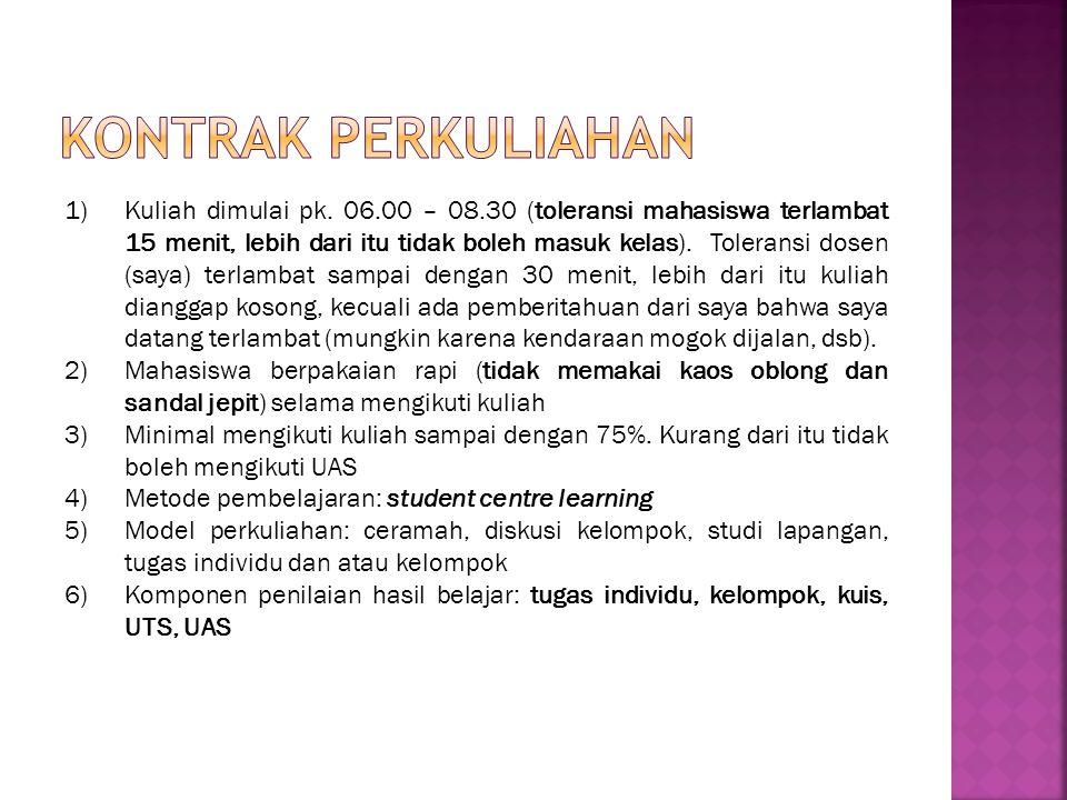 1)Kuliah dimulai pk.