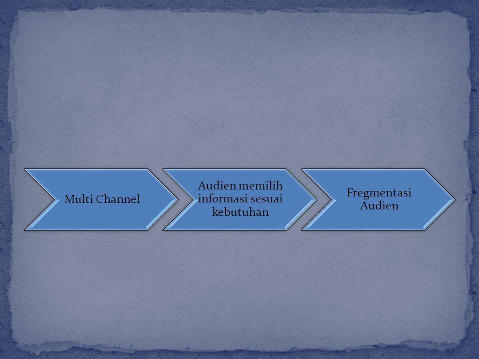 Multi Channel Audien memilih informasi sesuai kebutuhan Fregmentasi Audien